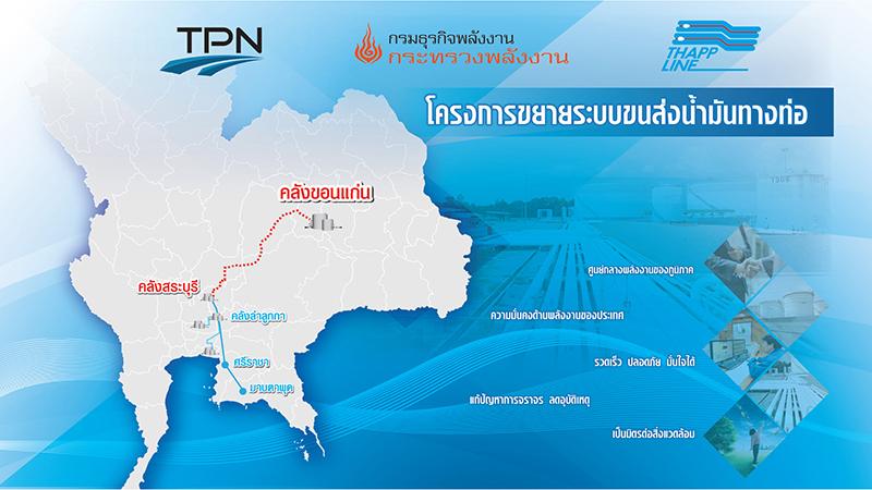 ธุรกิจให้บริการขนส่งน้ำมันโดยระบบขนส่งทางท่อ ไปยังภาคตะวันออกเฉียงเหนือ (TPN)